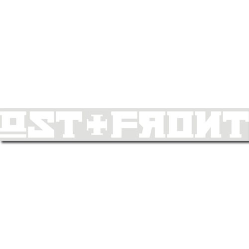 OST+FRONT - OST+FRONT Lettering Car Sticker / Heckscheibenaufkleber - Heckscheibenaufkleber