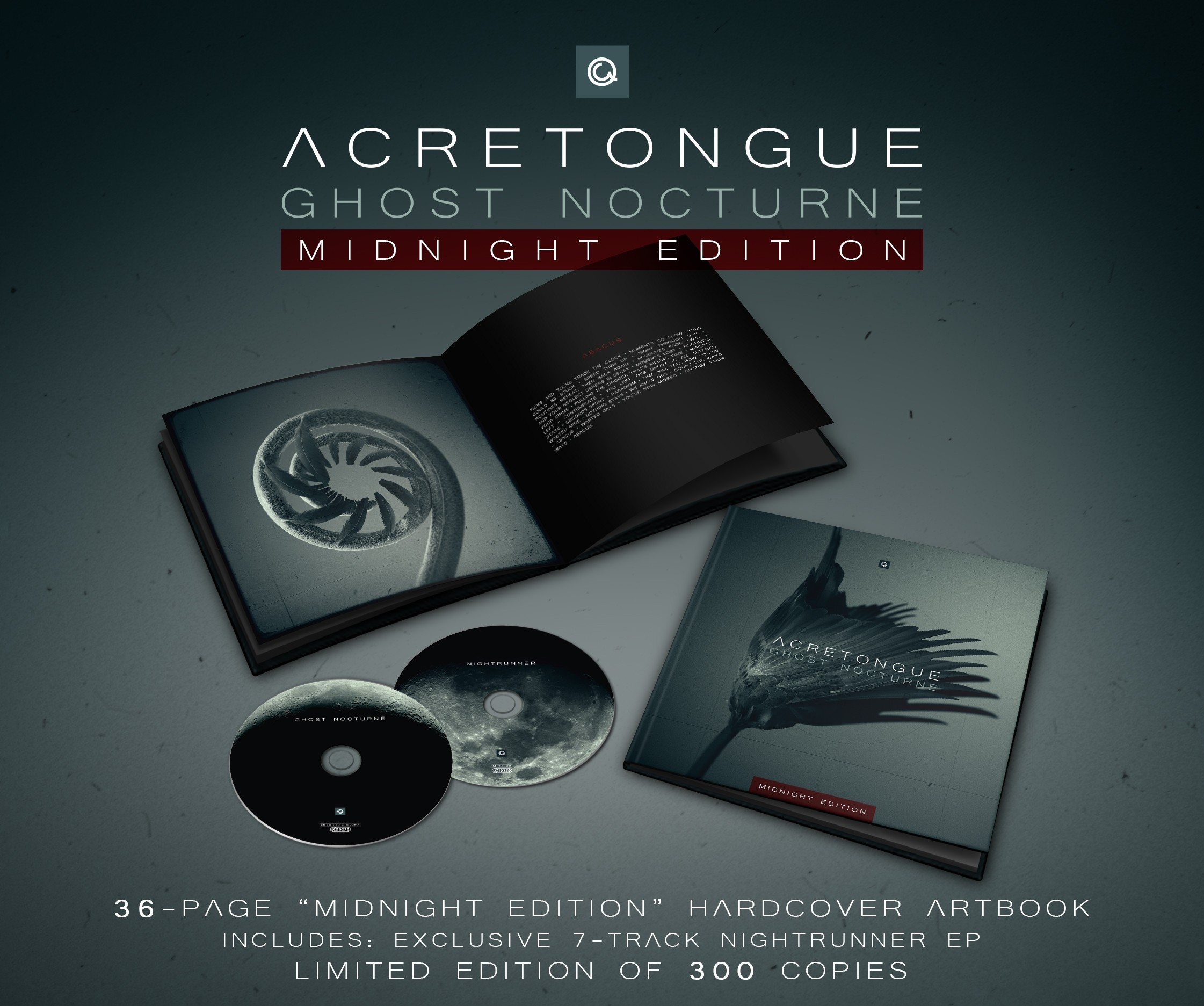 Acretongue - Ghost Nocturne (Limited Edition) - 2CD Book