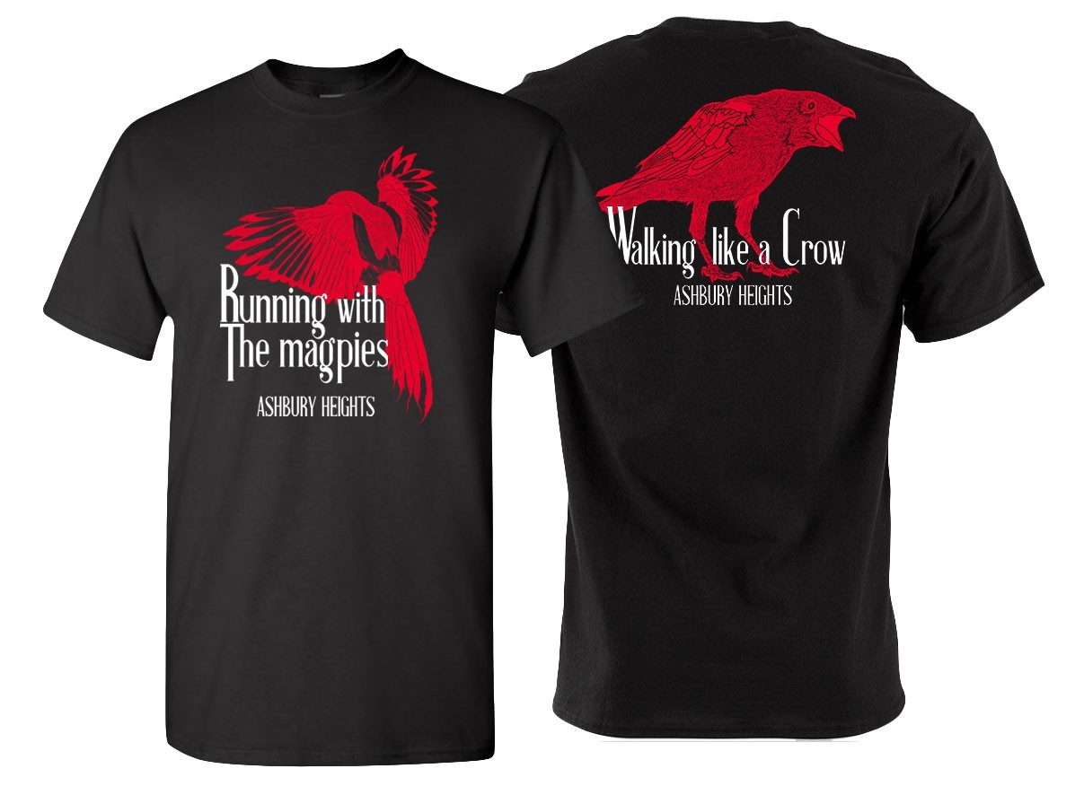 Ashbury Heights - Running with The Magpies - T-Shirt