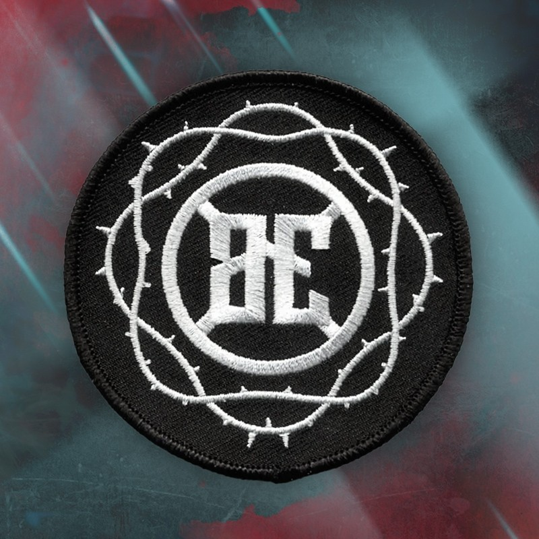 Blutengel - BE Logo mit Stacheldraht - Aufnäher/Patch