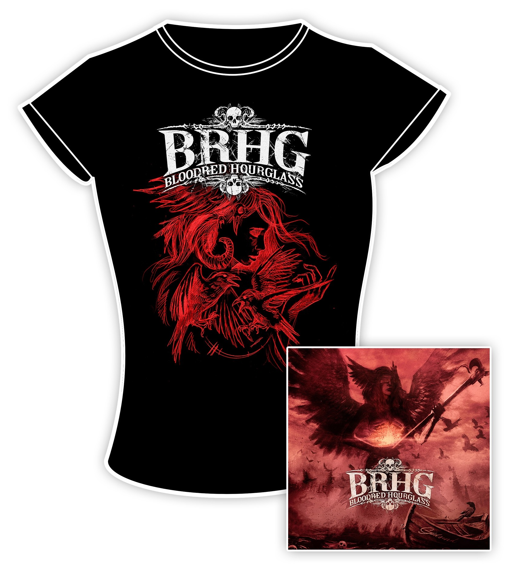 Bloodred Hourglass - Godsend - CD/Girlie Bundle