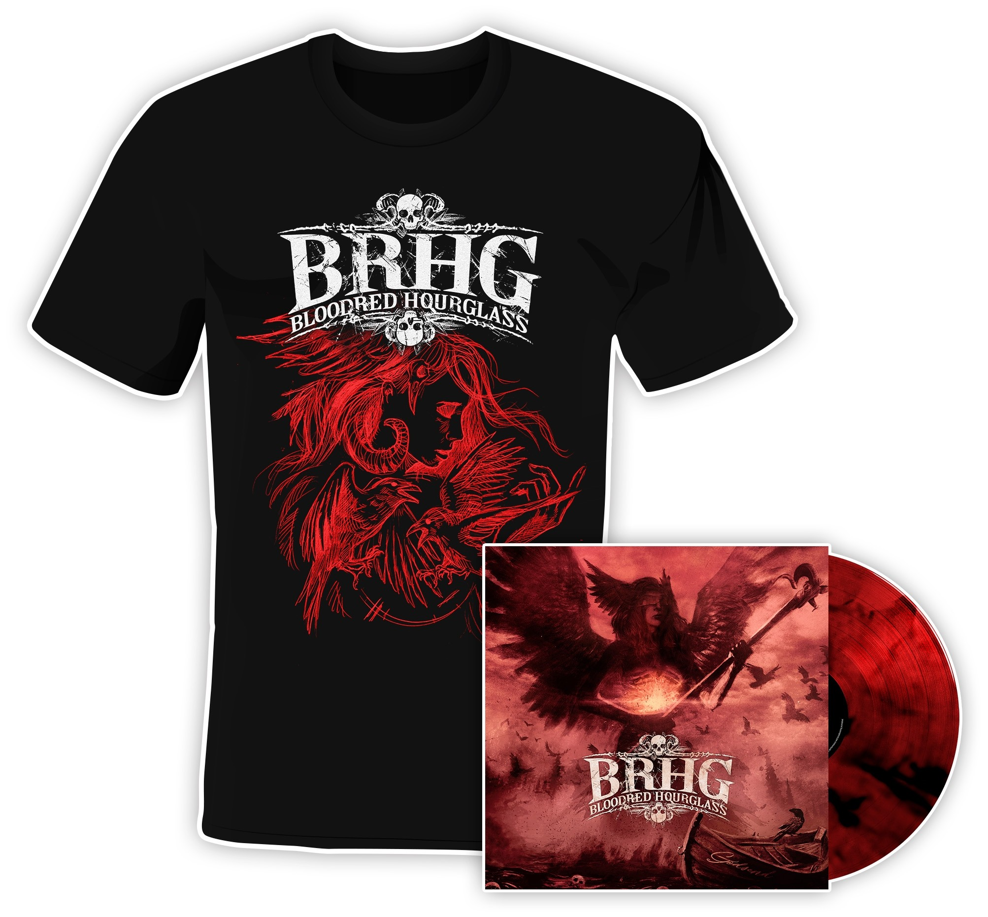 Bloodred Hourglass - Godsend - LP/T-Shirt Bundle