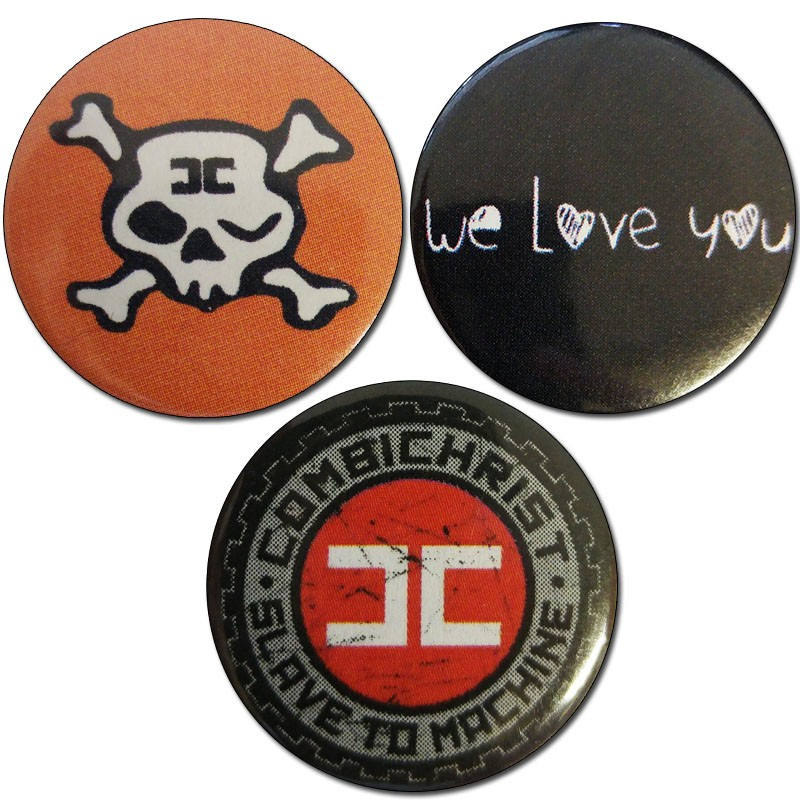 Combichrist - 3 x Buttons - Bundle