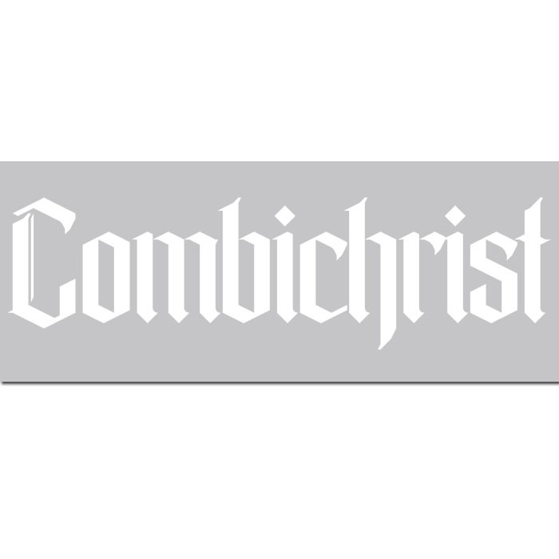 Combichrist - Lettering 2015 - Heckscheibenaufkleber - Car Window Sticker