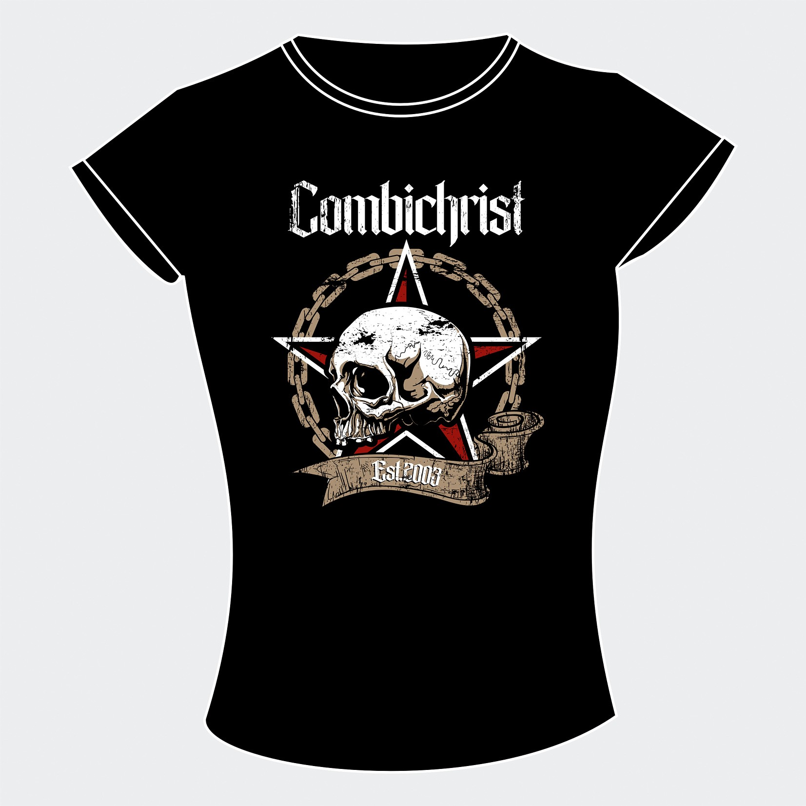 Combichrist - Skull & Chains - Girlie - Girle Shirt