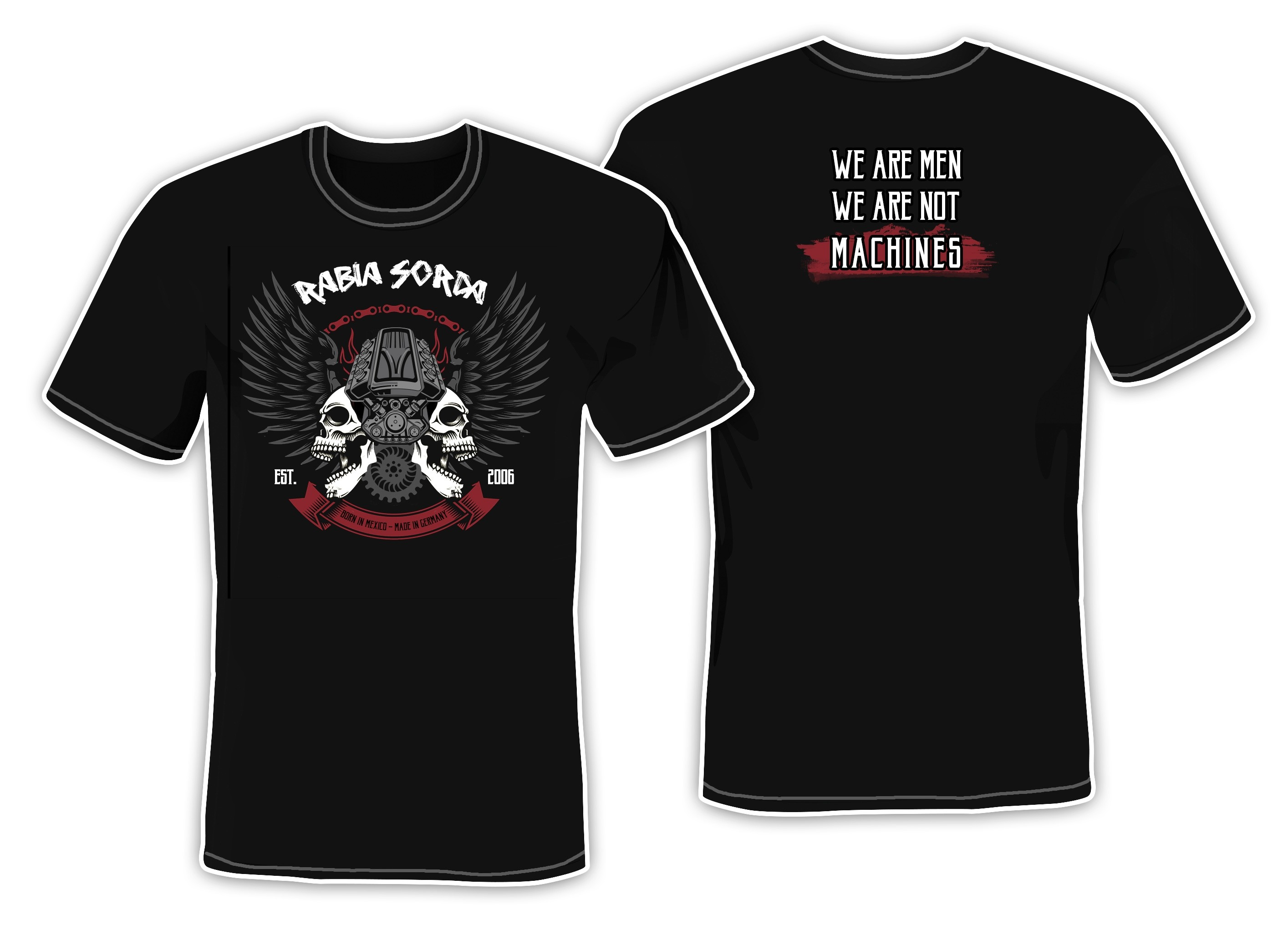 Rabia Sorda - We Are Men We Are Not Machines - T-Shirt