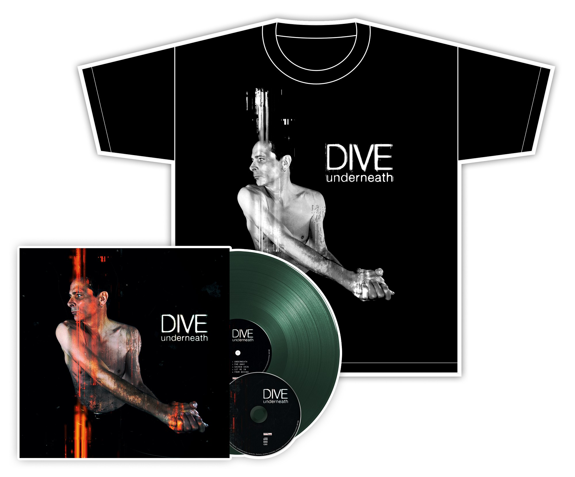 Dive - Underneath - LP+CD+T-Shirt Bundle