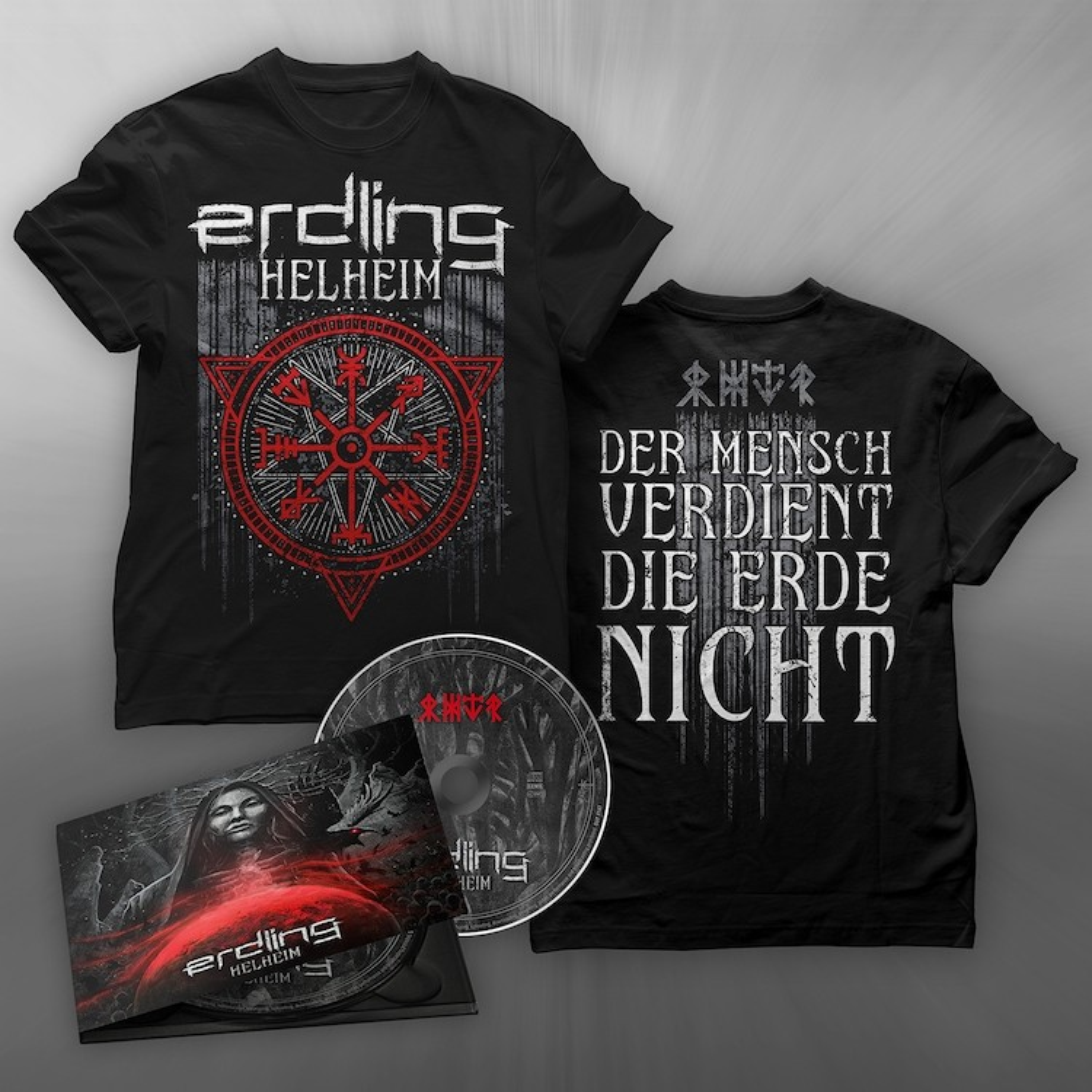 Erdling - Helheim - CD/T-Shirt Bundle