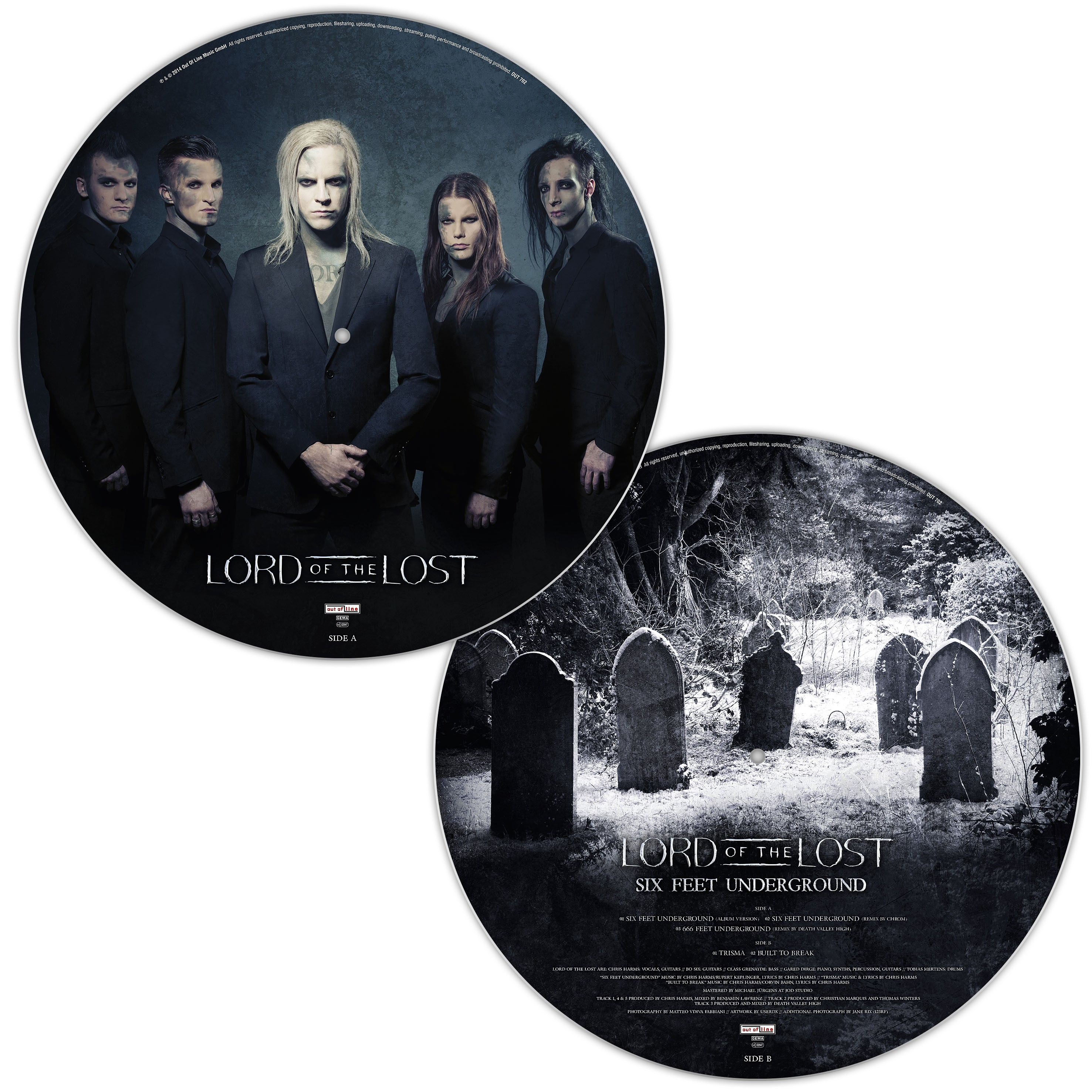 Lord Of The Lost - Six Feet Underground - LP - Limited Picture Vinyl/LP