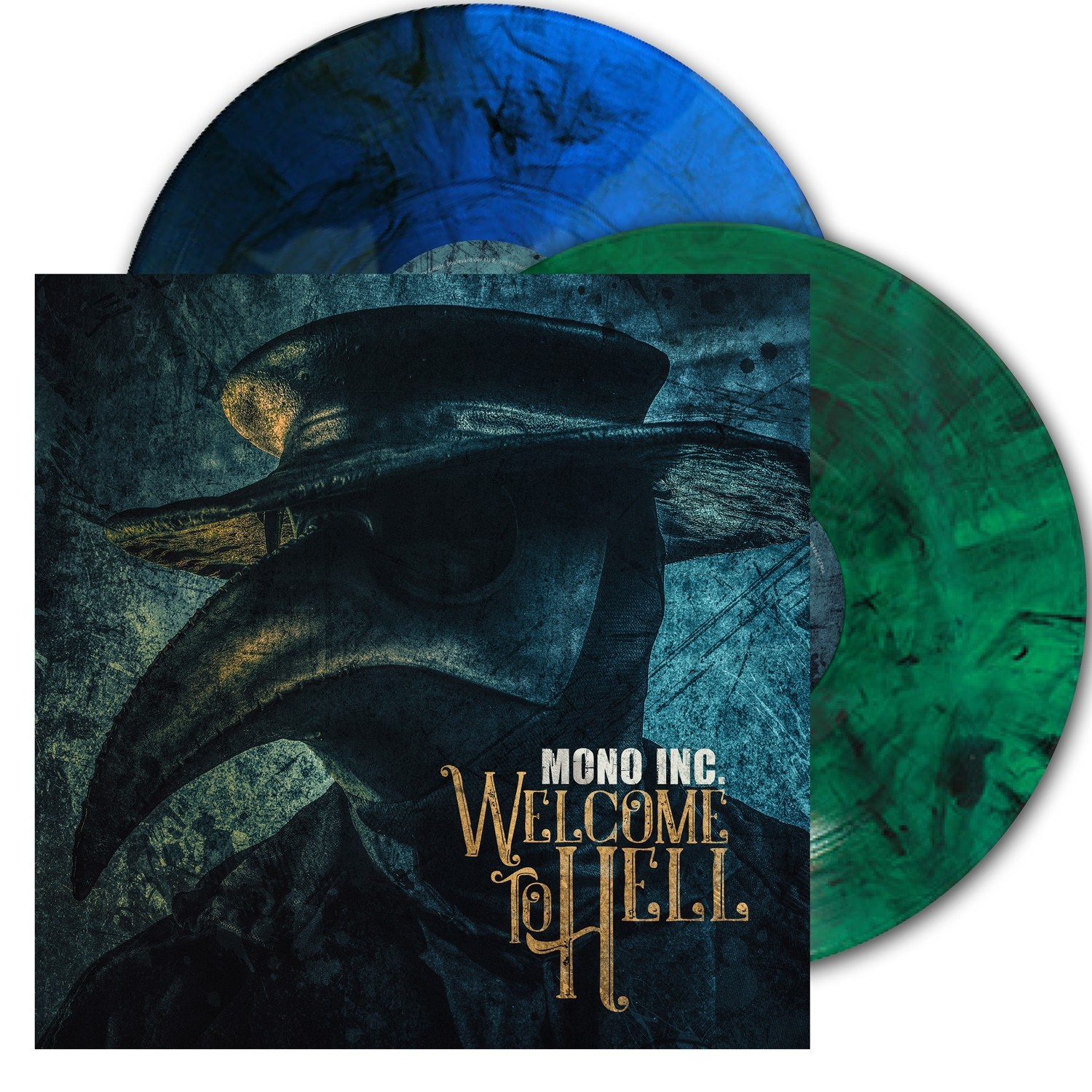 Mono Inc. - Welcome To Hell (Clear Blue/Green Vinyl) - 2LP