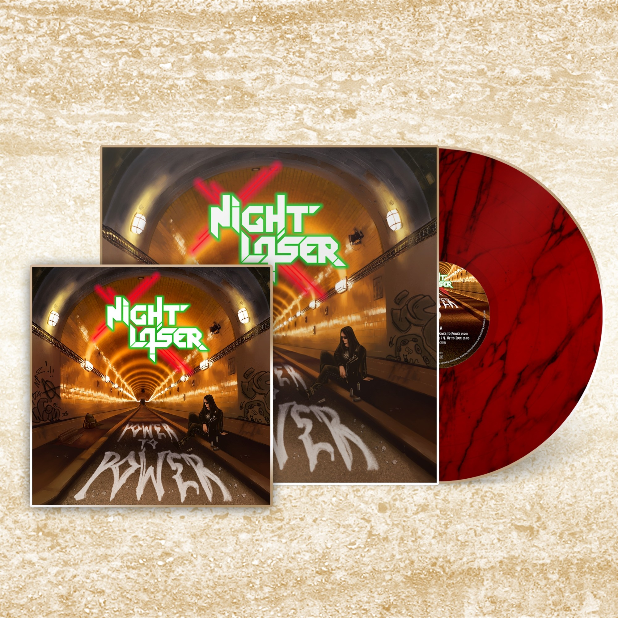 Night Laser - Power To Power - LP/CD Bundle