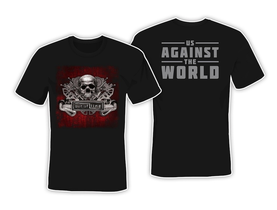 Out Of Line - Us Against The World (red edition) - T-Shirt