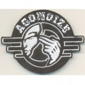 Agonoize - Logo/white 2011 (ironable) - Aufnäher - Patch