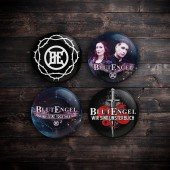 Blutengel - 4x Button (3,8 cm) Bundle 2020 - Button