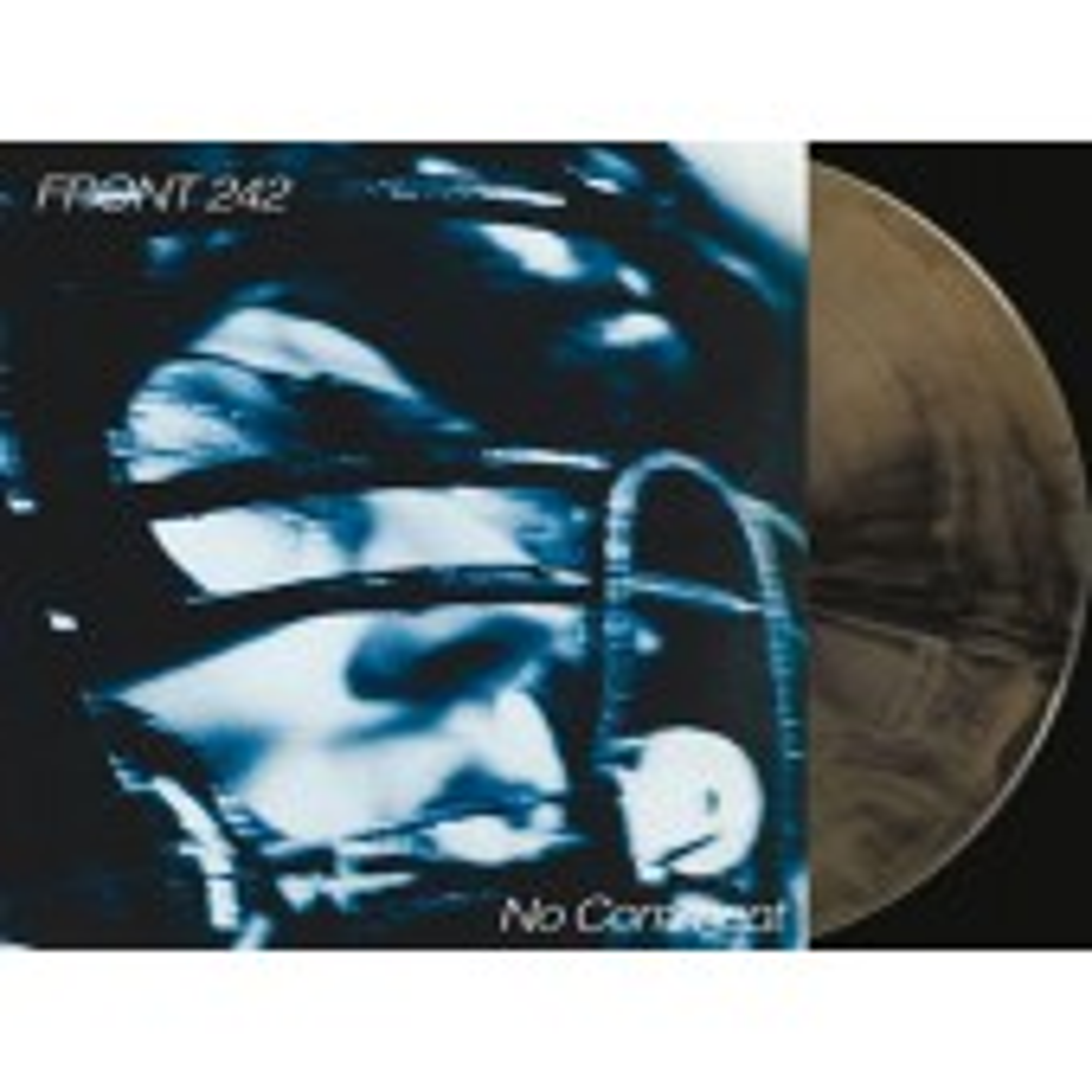 Front 242 - No Comment & Politics of Pressure (gold & black mixed) - 2LP+CD