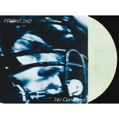 Front 242 - No Comment & Politics of Pressure (transparent green, clear & black mixed) - 2LP+CD
