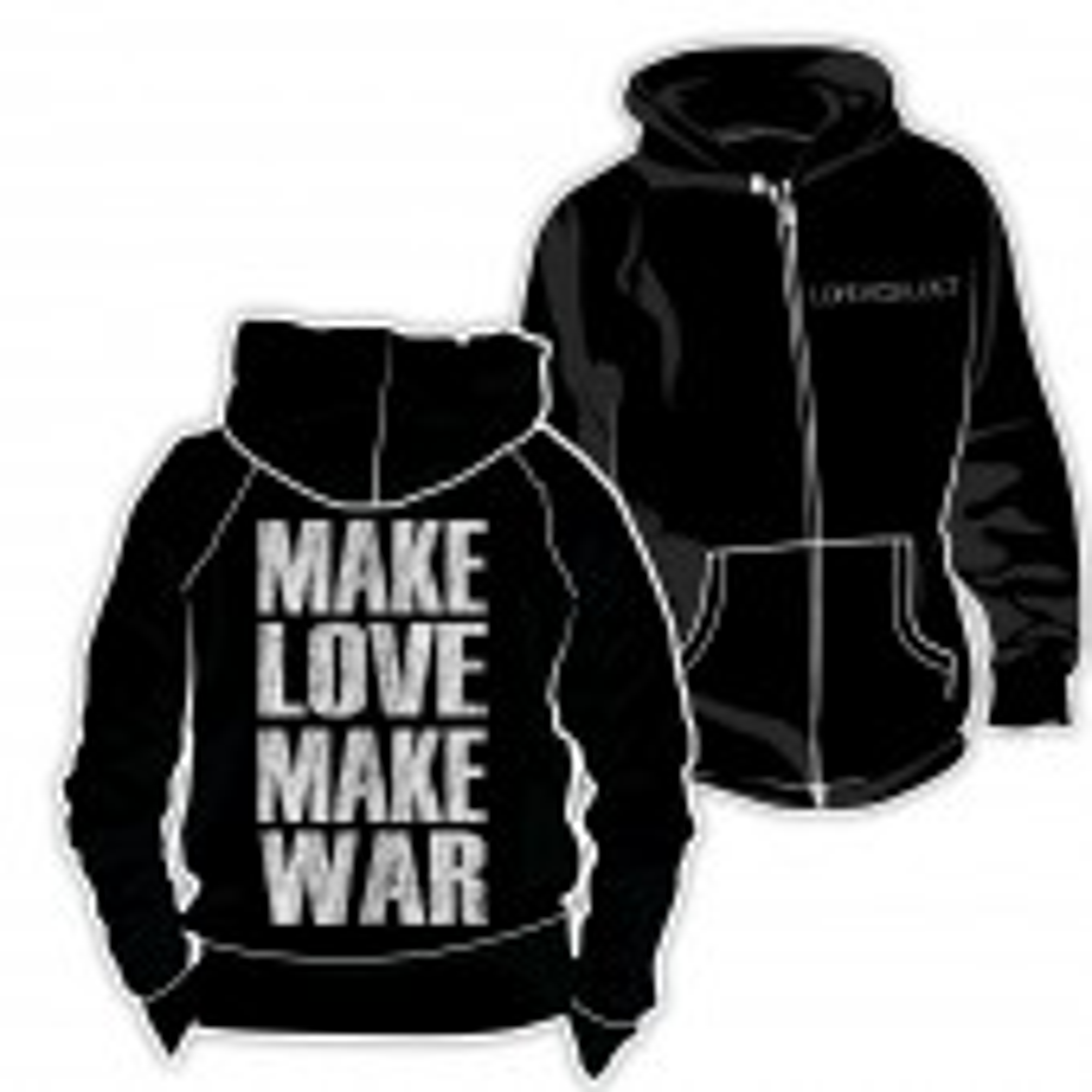 Lord Of The Lost - Make Love Make War - Kapuzenjacke - Hoodie Jacket