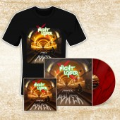 Night Laser - Power To Power - T-Shirt/CD/LP Bundle