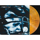 Front 242 - No Comment & Politics of Pressure (clear orange & black mixed) - 2LP+CD