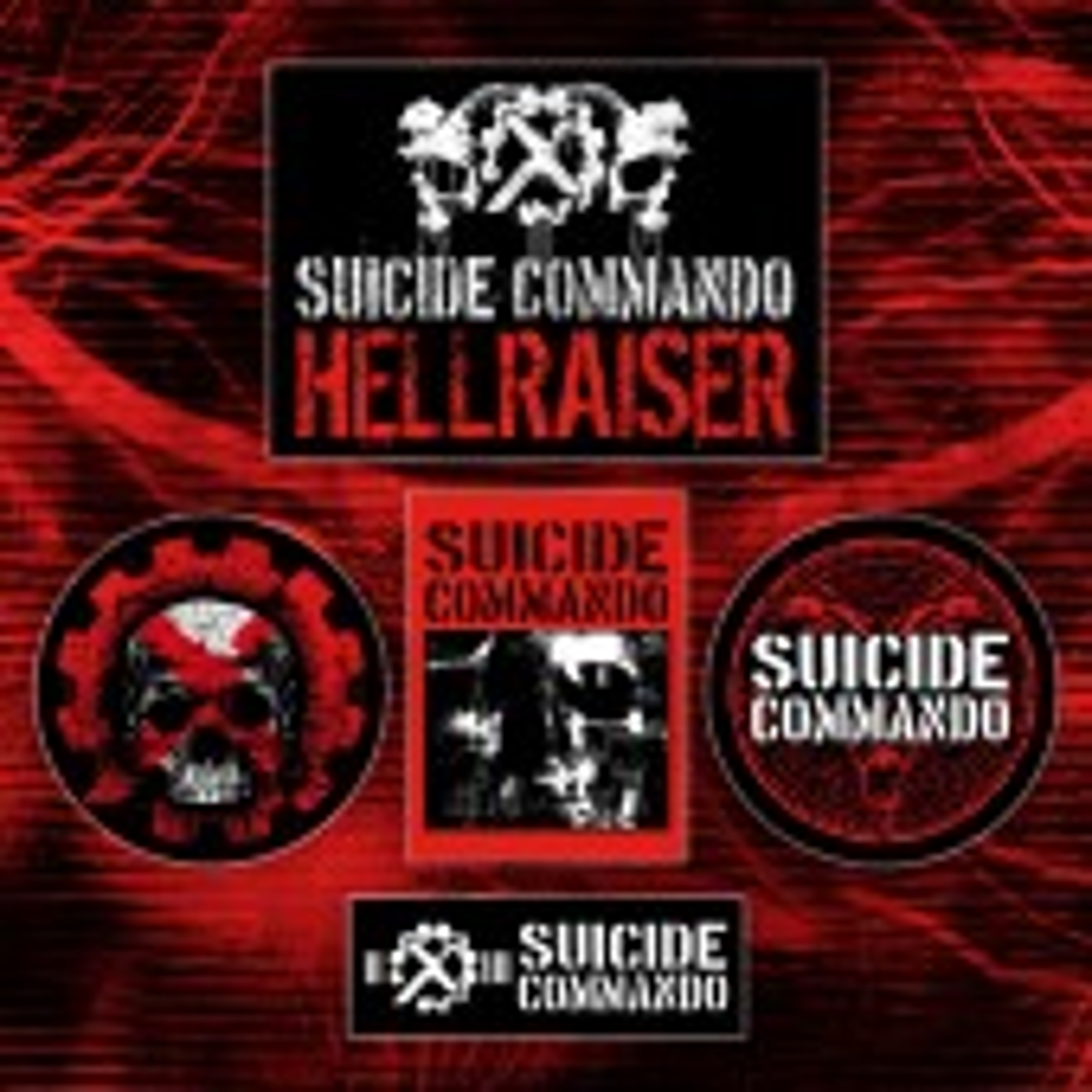 Suicide Commando - 5x Sticker Set - Sticker