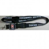 deluxe logo lanyard with rubber logo