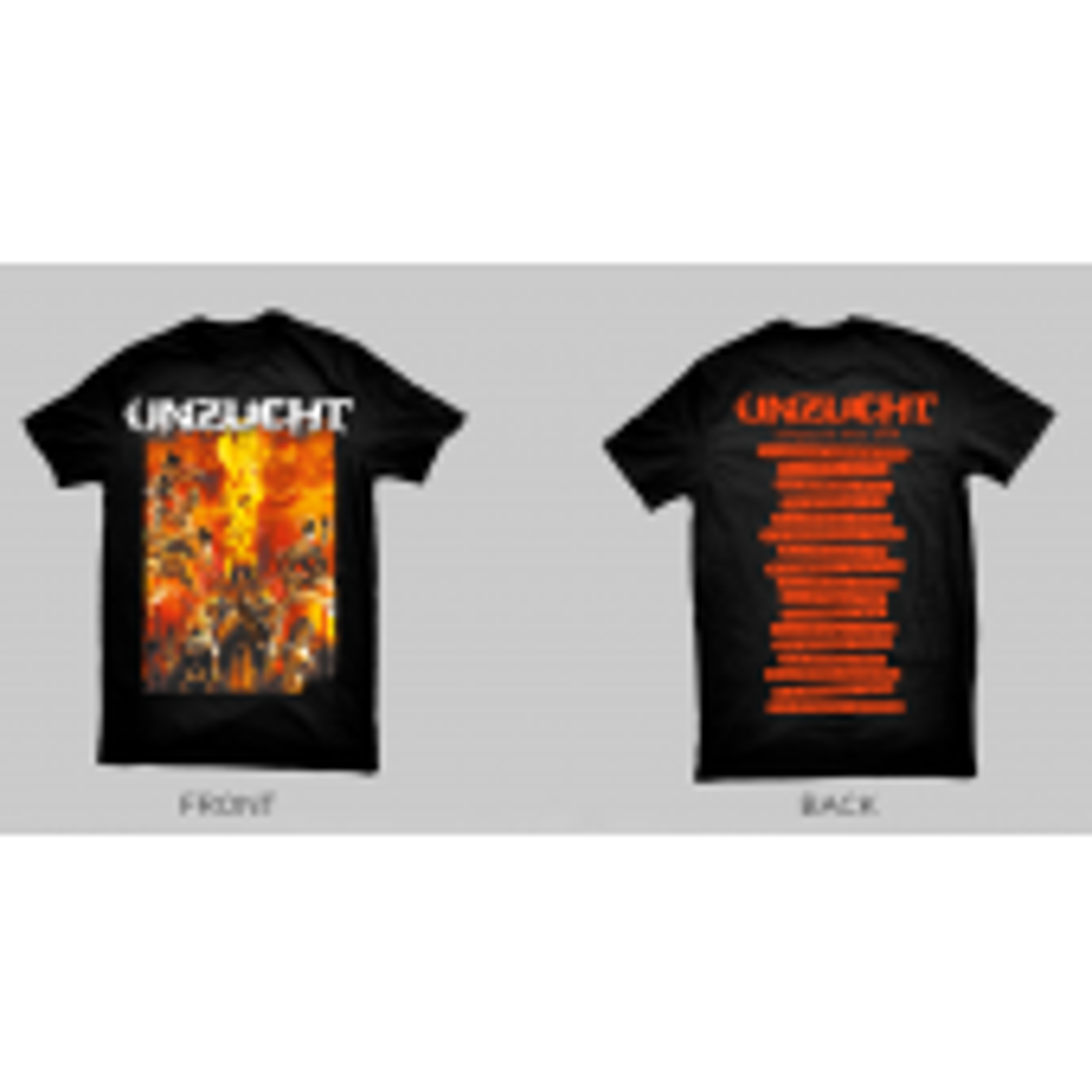 Unzucht - Akephalos Tour 2018 - T-Shirt